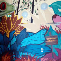 Fresque MDA Roanne par le collectif collectif Ripped Paper